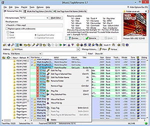 Tag editor main screen